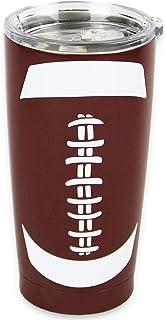 Football Stainless Steel Tumblers 20OZ SportsTravel Mug with Splash-Proof Lid Double Wall Insulation Tumbler for Ice Drinks Hot Beverage Gift for Mom Mem Fans