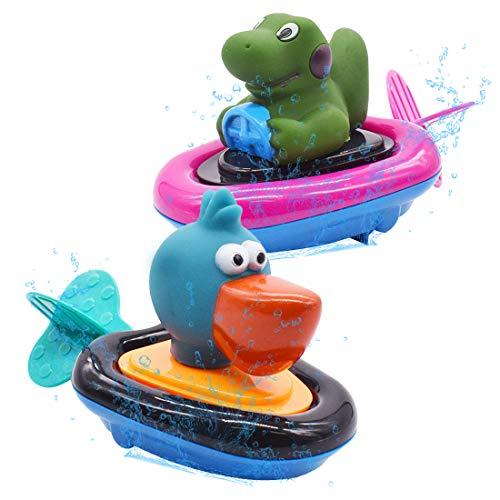 Juguete de Baño - Miotlsy 2 Piezas Juguetes de Baño para Bebés, Pato de Natación de Aparato de Relojería, Juguetes Baño Bebe Pato, Juguete de la Bañera de Piscina del Bebé que Nada