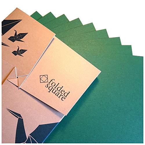 Grün Origamipapier | 100 Blatt, 15cm Quadrat | Pantone 341