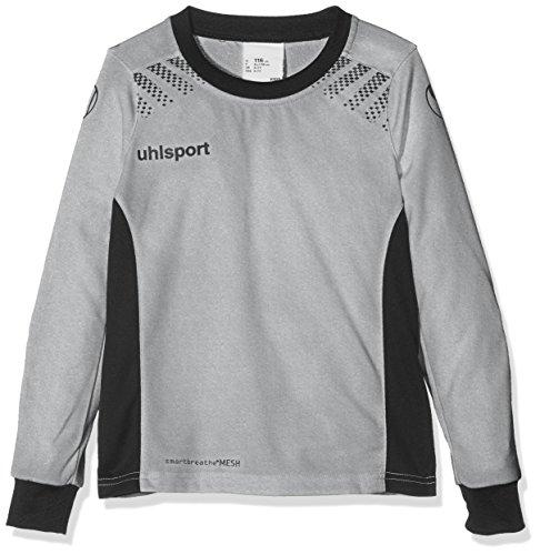 uhlsport Erwachsene Goal Torwartshirt Langarm, Dark Grey Melange/Schwarz, XXXL