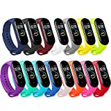 BANGTING 15 PCS Correa Compatible con Pulseras Xiaomi Mi Band 3/4, Correas para...