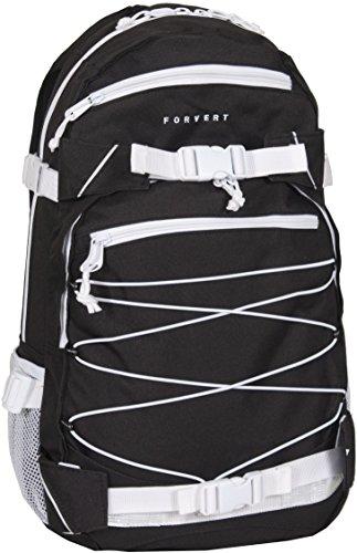 FORVERT Unisex Bag Ice Louis sportlich-lässiger Daypack mit durchdachter Ausstattung in auffälligen Kontrastfarben, schwarz (Black)