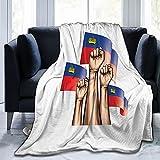 Liechtenstein-Flagge & Hand-Flanell-Decke, flauschig, bequem, warm, leicht, weich, Überwurf für Sofa, Couch, Schlafzimmer