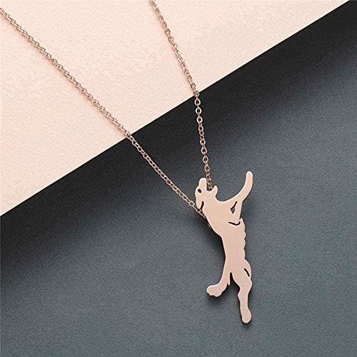 ZHIFUBA Co.,Ltd Collar de Mujer, Collar de Animales, Collar de Acero Inoxidable para Mujer, Colgante, joyería Retro para niñas, Collares de Regalo