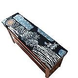 erddcbb Cojín de Banco Columpio de jardín de Estilo del sudeste asiático 2/3 plazas Alfombrilla de Banco Cojín de Repuesto Colchón Interior para el hogar Cojines para sillas Almohadilla para Asiento