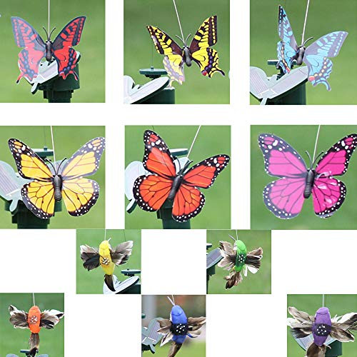 Homefantasy Solar Gartenstecker Blumenbeet, Schmetterlinge Deko, Solarstecker Solarfiguren FüR AußEn, Solar Butterfly/Solar Bird, ZufäLlige Farbe