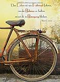 Notizbuch - 'Das Leben ist wie Fahrrad fahren, um die Balance zu halten musst du in Bewegung bleiben.' (Albert Einstein): DIN A5, liniert
