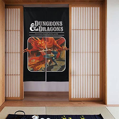 Dungeons and Dragons Curtain Tapestry Japanese Doorway Noran Curtain Door Way Curtain Fitting Room Curtain Partition Curtain Door Hanging 34 X 56 Inches