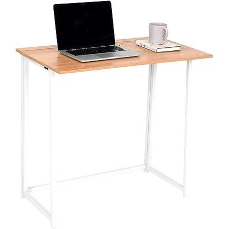 Wonderhome Bureau Table,Bureau Informatique, Pliante Petit Bureau d'étude Pliable pour la Maison et Le Bureau 80 x 45 x 75 cm