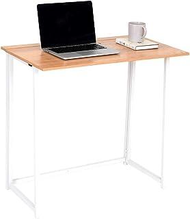 Wonderhome Mesa de Escritorio Plegable para computadora Pequeño Escritorio de Estudio Plegable para el hogar y la Oficina
