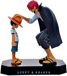 Chutoral Anime Action Figure, Anime Straw Hat Luffy Shanks PVC Figure Ornaments for Collection Bedroom Car Decoration Toy Gift
