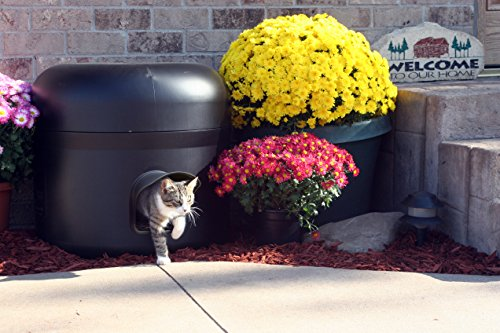 Kitty Tube - New GEN 4 Design - Outdoor Insulated Cat House w/Pet Pillow