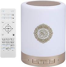 Altavoz Bluetooth táctil portátil con lámpara LED Cambio de color Control remoto inalámbrico Bluetooth Quran Altavoz con tarjeta 8G TF