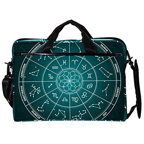Bolsa unisex para ordenador o tableta, ligera, bolsa de viaje de lona, 13.4-14.5 pulgadas, con hebillas, campo de fútbol deportivo, color verde