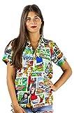Funky Camisa Hawaiana, Comic, Multicolor, S