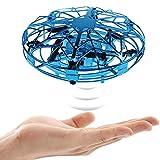 Lunriwis Mini Drone para Niños y Adultos, Recargable UFO Manual Juguetes y RC Helicopteros Teledirigidos con Giratorias Sensor de Infrarrojosy para Principiante,Juguetes de pascua