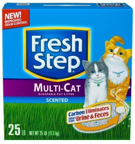 Fresh Step Scoopable Cat Litter, Multiple Cat, 25-Pound Box