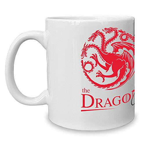 Shirt Department - Game of Thrones - Kaffeebecher - Tasse - The Dragon & The Wolf Weiss-rot