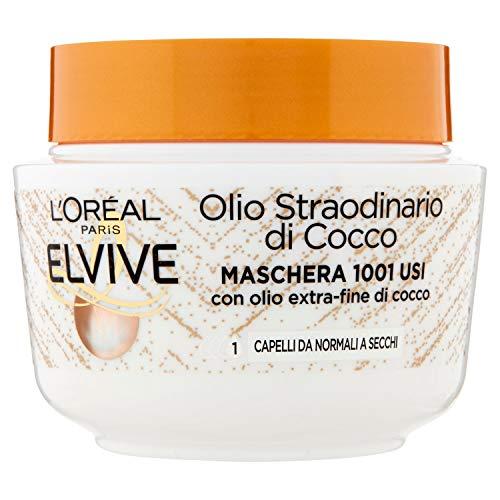 L'Oréal Paris Masque Nourrissante Elvive Huile Extraordinaire Huile Fin de coco pour cheveux normaux à secs, 300 ml