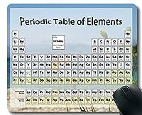 化学要素ゲーミングマウスパッド、ステッチエッジを持つコルフ海水テーママウスマットによる周期表