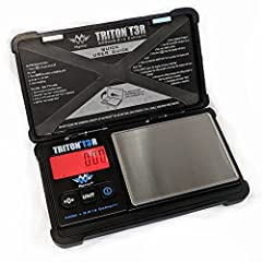"500g x 0.01g rechargeable digital scale Scale is 5.5"" x 0.8"" x 3"" Back-lit digital display Weighs in Pounds, Kilograms USB charging cable (included)"