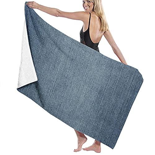 Badetuch Denim Jeans Textur Denim Hintergrund 100% Superfine Fiber Handtücher Schnell trocknend Sehr saugfähig für den täglichen Gebrauch Badezimmer SPA 32 'x52'
