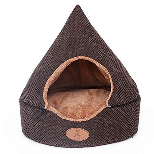 Heaven Days(ヘブンデイズ) ペット ベッド 犬 猫 ペット用寝袋 ペットハウス 暖かい クッション ドーム型 フリース 1902E0109