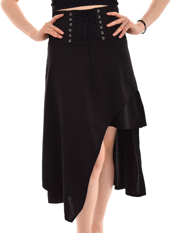 BLESSUME Punk Women Skirt Black