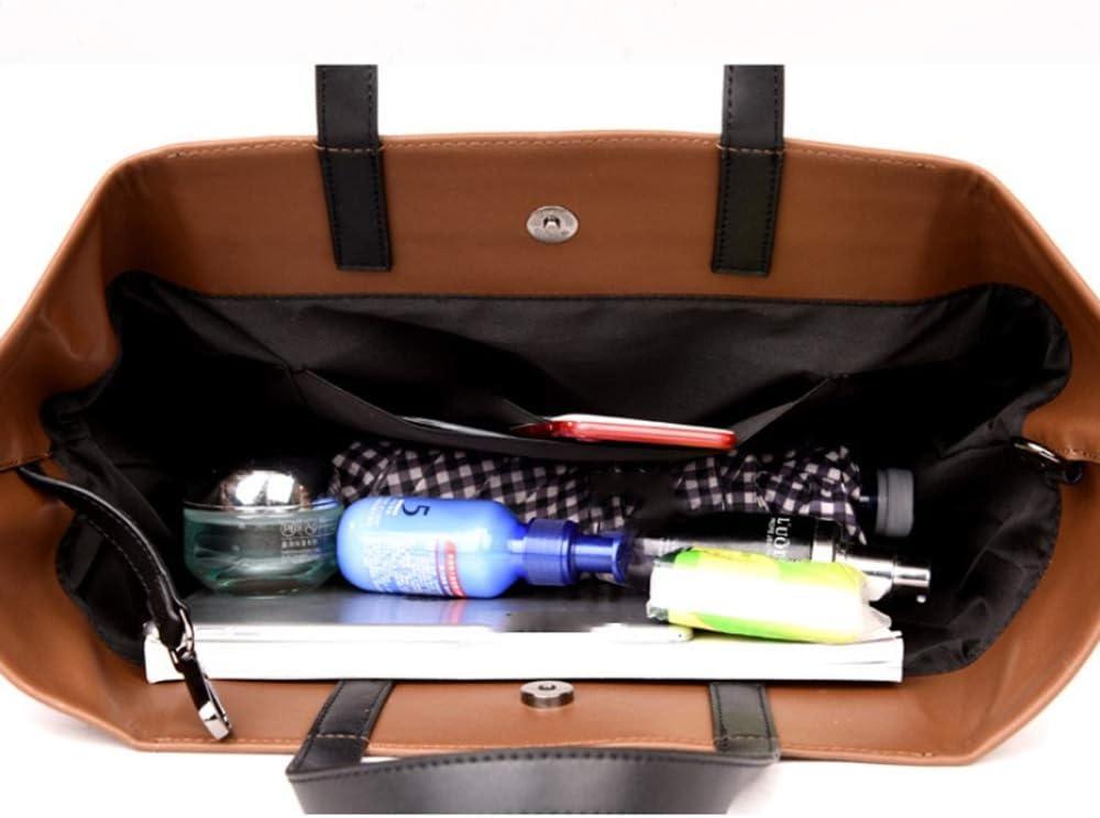 ZWNSWD Mode Cuir véritable Sacs à bandoulière Simple Mme Grande capacité Sac à Main Convient pour Les Voyages/Shopping Sac bandoulière Brown