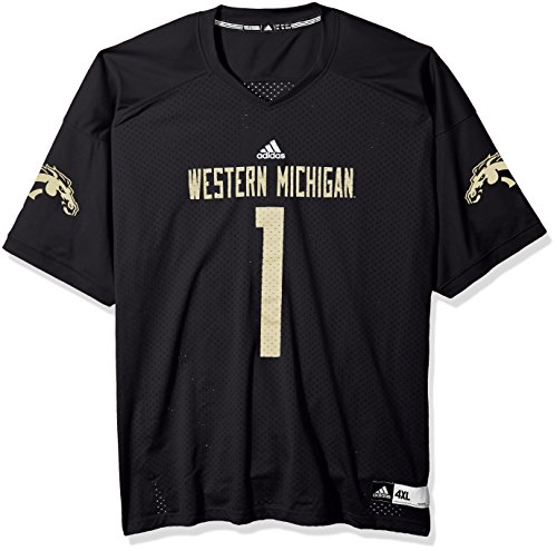 White No. 40 Game Used Western Michigan Adidas Football Jersey (SIZE 44)