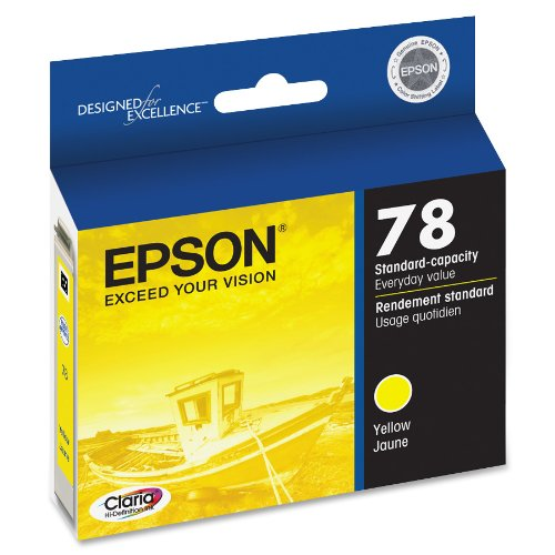 EPSON T078 Claria Hi-Definition Ink Standard Capacity Yellow Cartridge (T078420) for select Epson Artisan Photo Printers