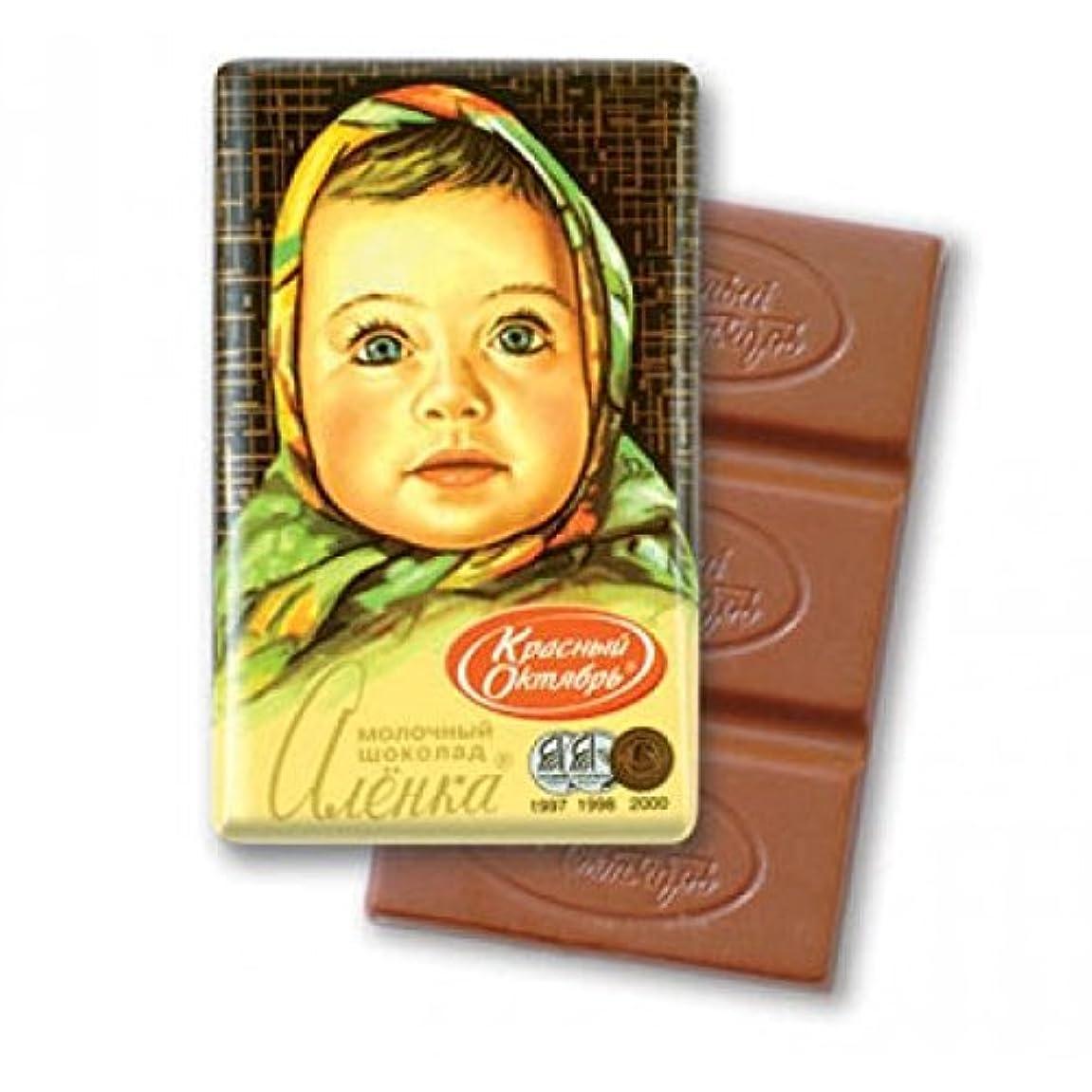 フォーク母音協力ロシア チョコレート (ミニ?アリョンカ(板チョコ) 10個入)