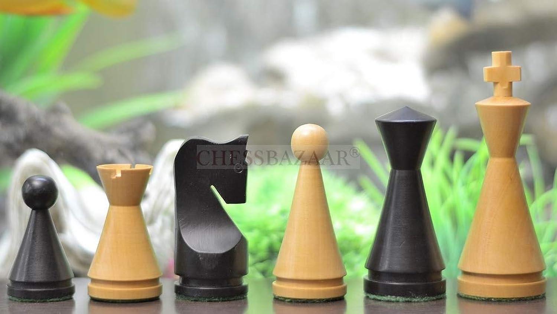 Indische Mogulreichserie   Eingefrbte beschwerten Schachfiguren (kegelfrmig) aus Buchsbaumholz - KH 104 mm Chessbazaar