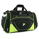 Fila Acer 25' Sport Duffel Bag, Black/Neon Green, One Size