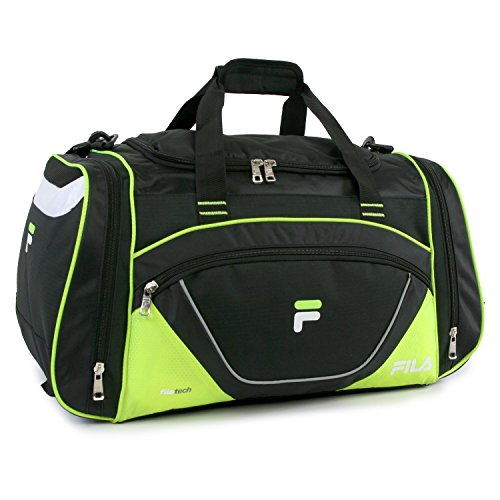 Fila Acer 25' Sport Duffel Bag, Black/Neon Green