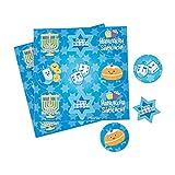 Fun Express - Hanukkah Treat Stickers for Hanukkah - Stationery - Stickers - Stickers - Sheets - Hanukkah - 50 Pieces