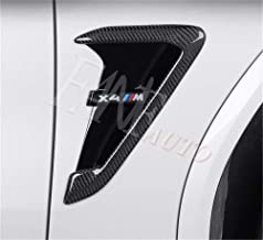 Black FANFAUTO Replacement M Look ABS Rear Side Mirror Cover For BMW NEW X3 G01 X4 G02 X5 G05 2018 2019 2020