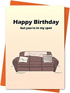 Big Bang Theory Birthday Card, Funny Birthday Card, Sheldon Birthday Card - Happy Birthday But You're In My Spot Greeting Card