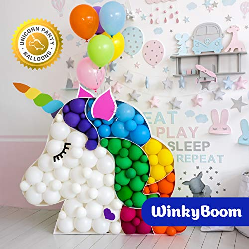 WinkyBoom Balloons Assorted Color 12 Inches 110 Count Premium Quality Latex for Birthday Party Decorations