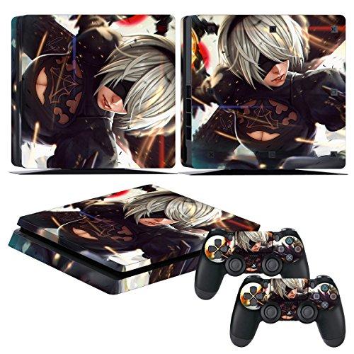 "EBTY-Dreams Inc. - Sony Playstation 4 Slim (PS4 Slim) - NieR Automata Video Game YoRHa No. 2 Model B ""2B"" Vinyl Skin Sticker Decal Protector"