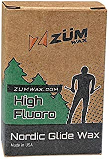ZUMWax HIGH Fluoro Nordic/Cross-Country Racing Glide Wax - CHILL Temperature. Environmentally Friendly & Non-Toxic!