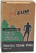 ZUMWax HIGH Fluoro Nordic/Cross-Country Racing Glide Wax - CHILL Temperature. Environmentally Friendly & Non-Toxic!