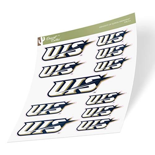 University of Illinois Springfield UIS Prairie Stars Sticker Vinyl Decal Laptop Water Bottle Car Scrapbook (Sheet Type 3)