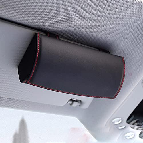 WBMKH Accesorios de Coche, Estuche para Gafas de Coche, Estuche para Gafas de Sol, para Audi Q3 Q5 SQ5 Q7 A1 A3 S3 A4 A6 A7 S6 S7 S4 RS4 A5 S5