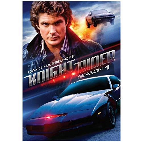 LIUXR Knight Rider Staffel 1 TV-Show Kunstdrucke Leinwand Poster Wanddekoration Bilder Leinwanddrucke Wandkunst Wohnkultur -50x70cm Kein Rahmen