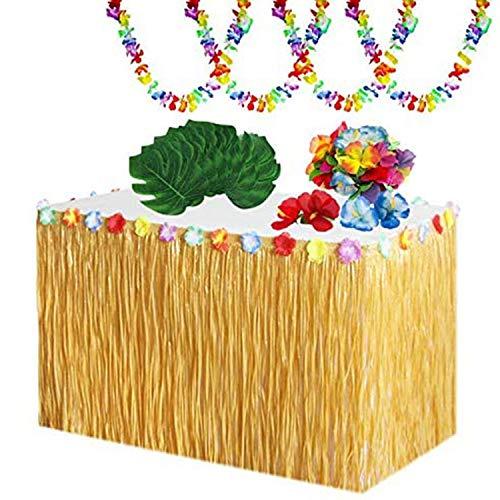 Heritan 65 Pcs Hawaiian Tropical Party Decoration Set for Beach Summer Hawaiian Lei Theme Party