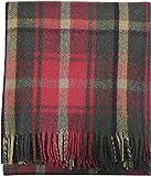 Tartan Tweeds - Alfombra de tartán escocés, 100% lana, talla única, color arce oscuro