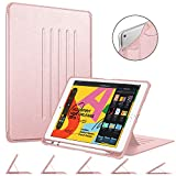 Fintie Magnetic Stand Case for iPad 7th Generation 10.2 Inch 2019, [Multiple Secure Angles] Shockproof Rugged Soft TPU Back Cover with Auto Wake/Sleep for iPad 10.2', Rose Gold