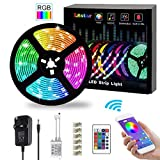 L8star LED Strips Lights,5M/16.4ft Flexible Strips Lights SMD 5050 RGB with Bluetooth Controller