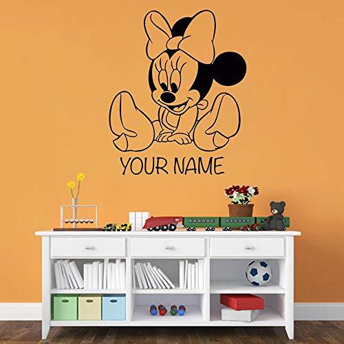 Dibujos animados de dibujos animados animal ratón vinilo tatuajes de pared vivero creativo ratón decoración de la habitación de los niños etiqueta de la pared decoración del hogar habitación de bebé